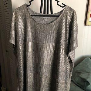 Silver metallic shirt